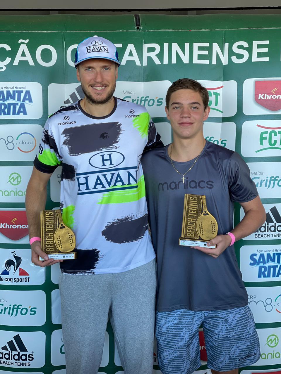 André Baran e Matheus Buemo são campeões em Florianópolis
