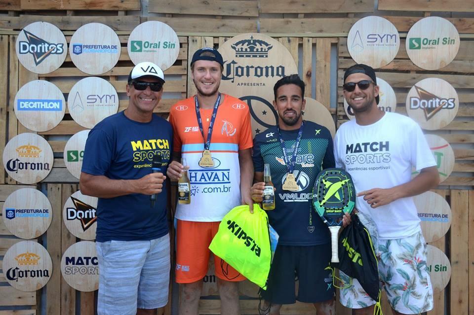 Dupla do Bandeirante é campeã do Desafio Sul Americano de Beach Tennis